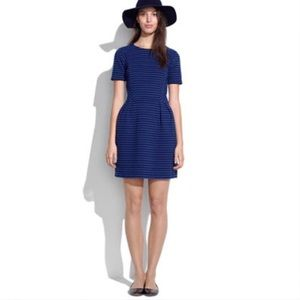 Madewell blue & black stripe dress