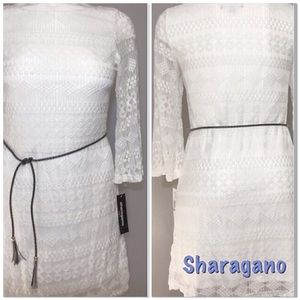 Ivory Lace Dress w/ Belt