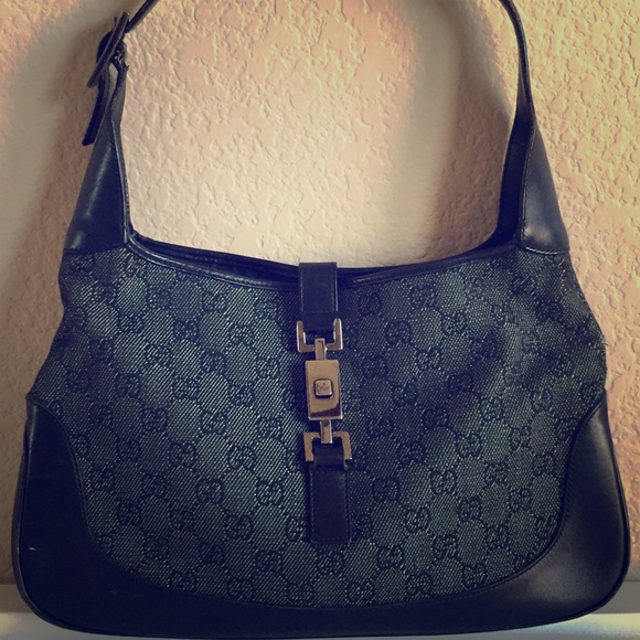 17eea54a8cd82a Gucci Bags | Jackie O Black Gg Denim Monogram Hobo Bag | Poshmark
