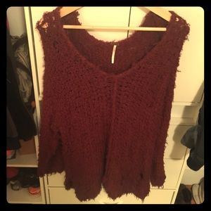 FREE PEOPLE sexy summer burgundy sweater