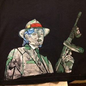 Hand painted Michael Jackson t shirt