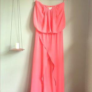 Dresses & Skirts - Full Length Open Front Chiffon Tube Dress