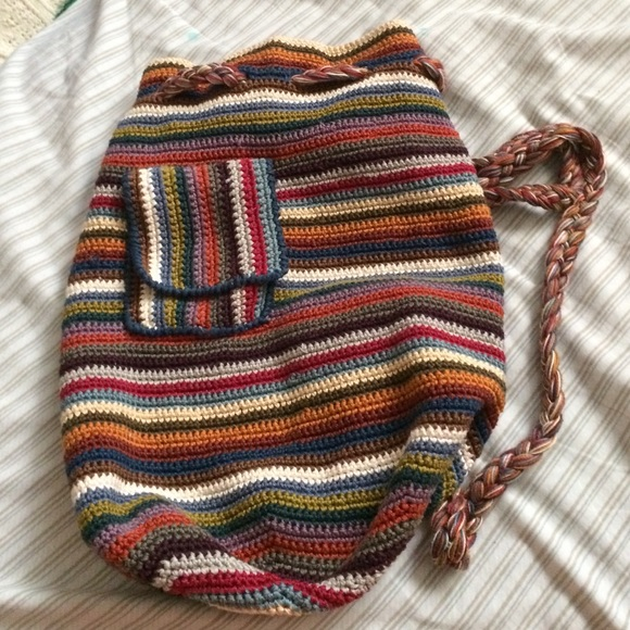 Peruvian Connection Bags Colorful Knit Drawstring Backpack Poshmark