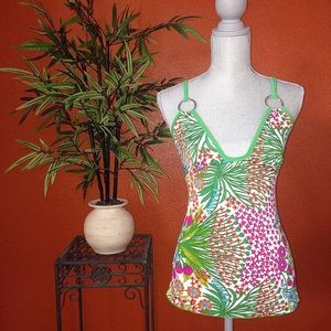 Wet Seal Tropical Colorful Floral Top Small NEW