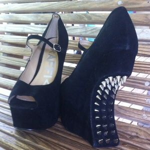 Traffic Shoes - Traffic backless heels with studs