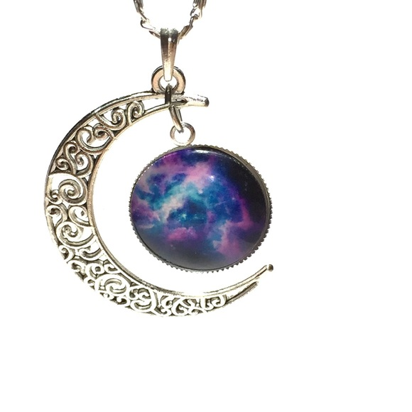 products celestial necklace silver kesta hematite grande onyx creations
