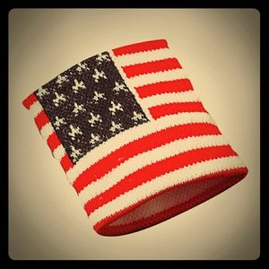 New Patriotic flag USA sweat band bracelet!