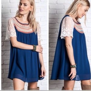 Lace Sleeve Babydoll Dress