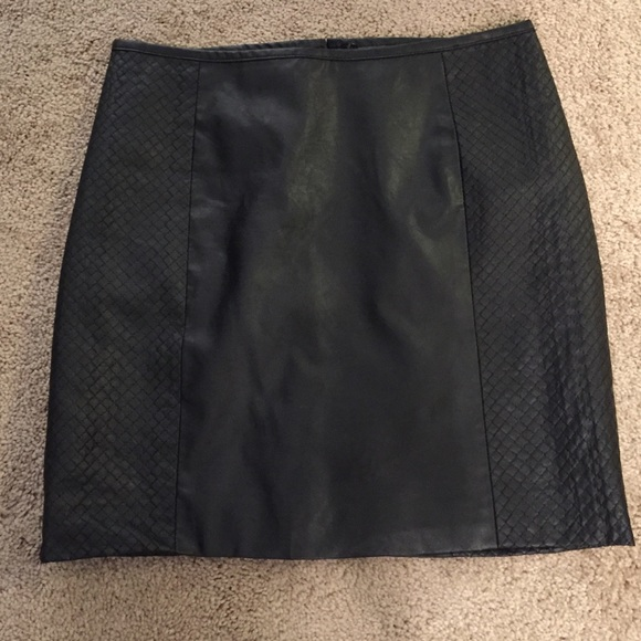 h m h m faux leather skirt from s closet on poshmark
