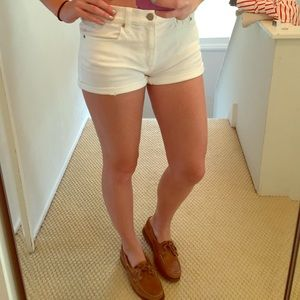 Gap white slim shorts