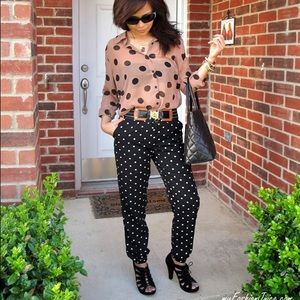 Love 21 by Forever 21 polka dot pants