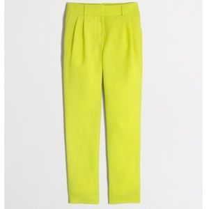 J. Crew Neon yellow drapey pants