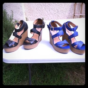 Charlotte Russe strap wedges