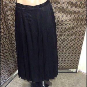 Nina Ricci Dresses & Skirts - Nina Ricci black long skirt pleaded