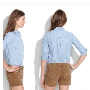Madewell Denim polka dot shirt