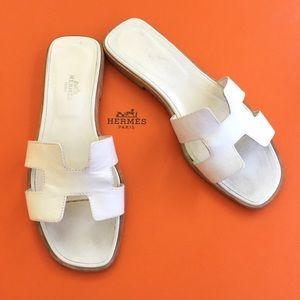 9% off Hermes Shoes - AUTH VINTAGE HERMES ORANGE SLIDE \u0026quot;H\u0026quot; MULE ...