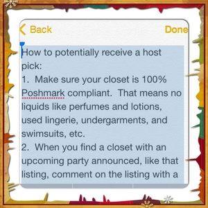 Host pick tips!!!