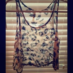 pauln KC Tops - Leopard Short Top