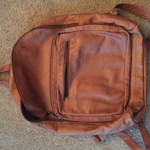 Handbags - Tan leather backpack