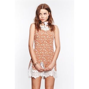 For Love And Lemons Gilly Girl Lace Floral Dress