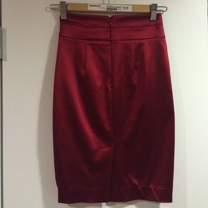 5d45ef401e bebe Skirts | Red Satin Pencil Skirt | Poshmark
