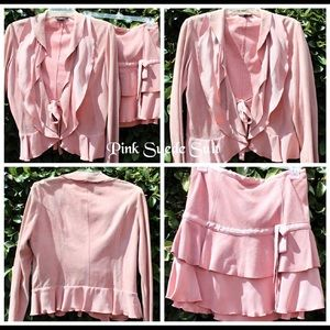 Pink Swede Suit