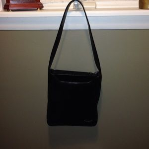Great structured black leather purse