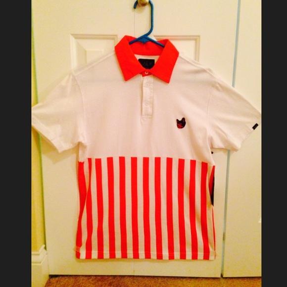 ecdeb2577643 OFWGKTA - Golf Wang Candy Polo Red Polo shirt