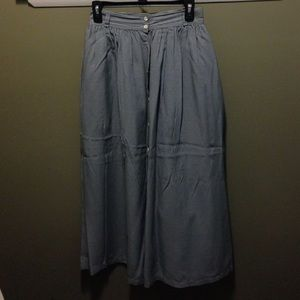 BR Classic gingham long skirt