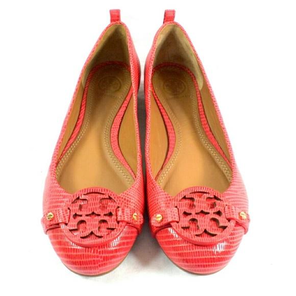 a8a6966641aaa2 Tory Burch Mini Miller Melon Leather Flat Shoe. M 555ea0436802786463000d14