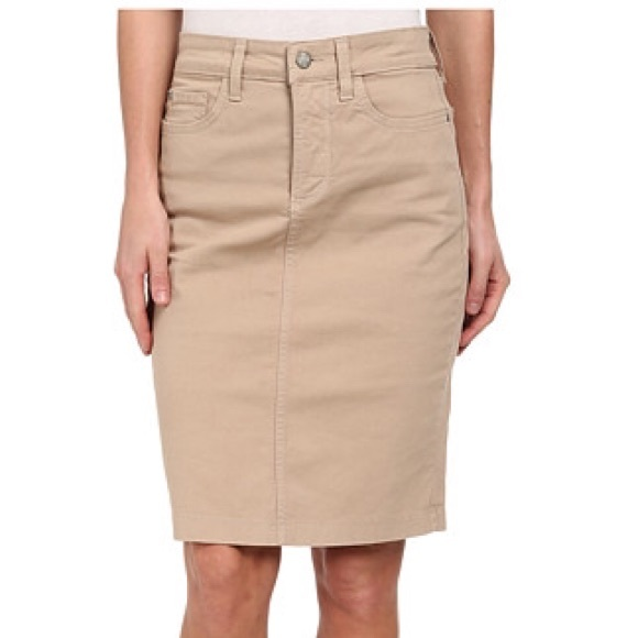 Nydj Skirts Not Your Daughters Jeans Khaki Pencil Skirt