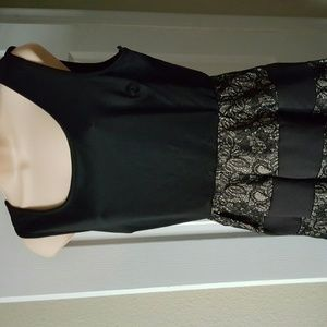 Deb Dresses - Black and nude lace dress