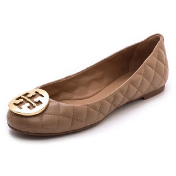 Tory Burch Quinn Leather Flats free shipping very cheap clearance store cheap online xFI9vrm