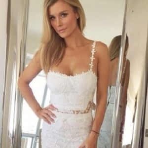 BRAND NEW WITH TAGS! 2 PIECE WHITE LACE SKIRT SET