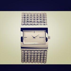 silver crystal bracelet by DKNY