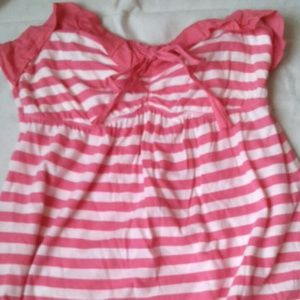 Hollister strapless pink and white tunic