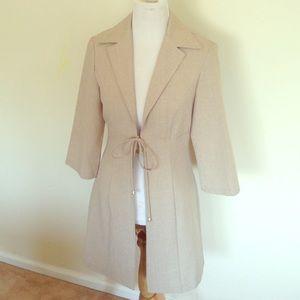 Lightweight beige fancy coat