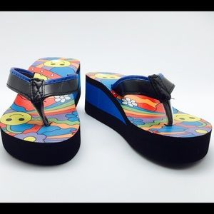 Hbcali Shoes - NWT 🎉Host Pick🎉 flatform wedge style flip flops