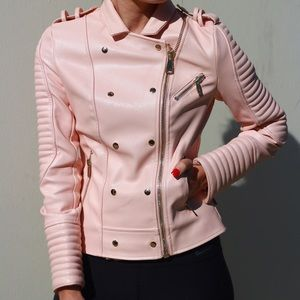 House of cb pink motorcycle jacket brand new