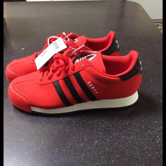 adidas black red samoa