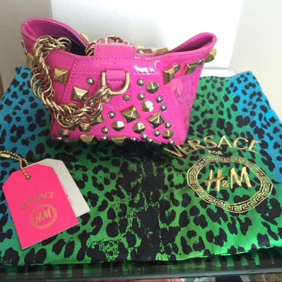 6a0cbb6da284 Versace for h m hot pink purse