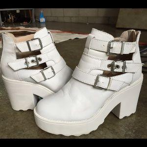 Steve Madden white platform sneaker shoes 37