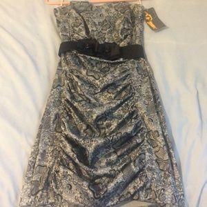 Ruby Rox Dresses & Skirts - Ruby Rox Lace Print Strapless Dress