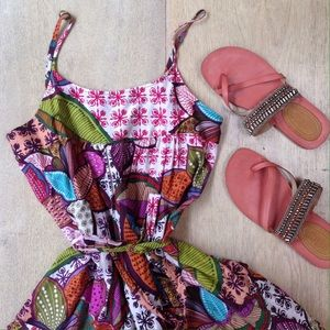 Anthropologie Postella Colorful Dress