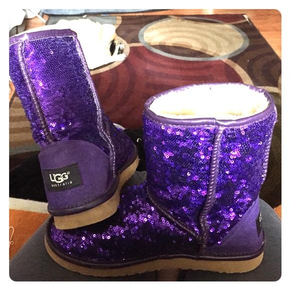 purple sparkle uggs