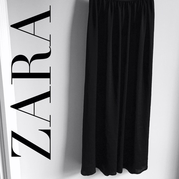 first rate search for authentic buy cheap ZARA || black silk maxi skirt