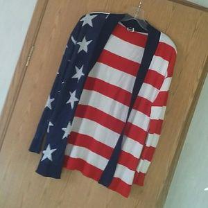 American Flag Cardigan
