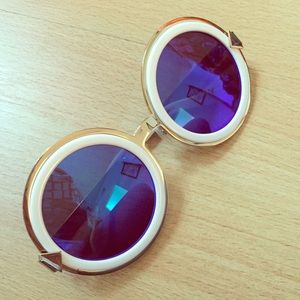 Karen Walker sunglasses with blue lens