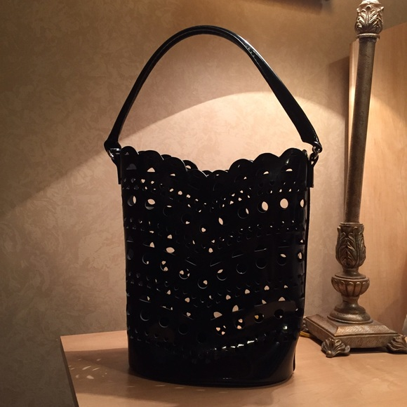 celine luggage tote replica - Neiman Marcus - Black Geometric Neiman Marcus Bucket Bag from ...