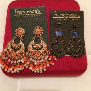 New Francesca's Collections Earrings 2 Pairs 1 pri
